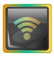 wi-fi grey icon with colorful details on white vector image vector image