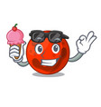 with ice cream mars planet character cartoon vector image