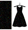 women dress fabric with space pattern vector image vector image