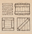 wooden box doodles vector image vector image