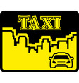 yellow taxi icon on flat design style vector image vector image