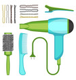set of hairdressing tools vector image