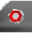 Volume hexagon logo The hexagonal flower White vector image