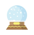 Snow Globe isolated on white background vector image