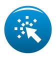 cursor internet icon blue vector image
