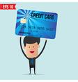 Businessman Holding Credit Card vector image