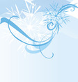 abstract blue snowflake background vector image vector image