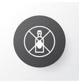 alcohol forbid icon symbol premium quality vector image
