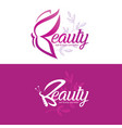 beauty logo template with butterfly stylized vector image