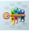Business concept Pen and bubble speech arrow vector image vector image