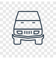 car toy concept linear icon isolated on vector image vector image
