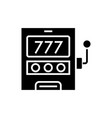 casino machine - luck icon vector image