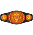 champion boxing belt vector image vector image