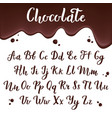 chocolate alphabet calligraphic delicious letters vector image vector image