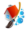 cleaning house symbol vector image vector image