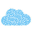 cloud shape of sword icons vector image