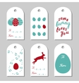 Collection of six Easter gift tags vector image vector image