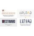 collection sans serif fonts uppercase vector image vector image