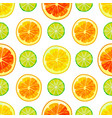 colorful seamless citrus pattern in cartoon style vector image