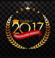 congratulations on graduation 2017 class vector image vector image