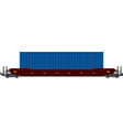 Container train vector image