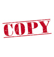 copy red grunge vintage stamp isolated on white vector image vector image