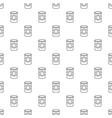 cosmetic jar plastic pattern seamless vector image vector image