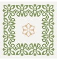 decorative frame in the Celtic style vector image vector image