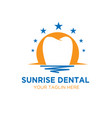 dental sun rise logo designs vector image