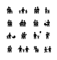 Family Black White Icons Set vector image