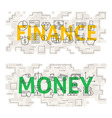 Finance Money Line Art Concept vector image