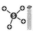 financial medical links icon with job bonus vector image vector image