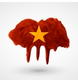Flag of Vietnam painted colors vector image