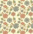 floral ornament summer background vector image