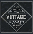 frame - vintage text decoration monogram vector image vector image