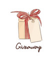 gift giveaway sketch cool holiday vector image vector image