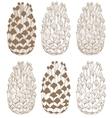 hand-drawn cones vector image vector image