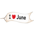 I love June vector image