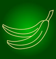 icons of bananas holiday ugadi fine lines vector image vector image