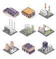 industrial building and factory architecture vector image vector image