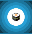 isolated gourmet flat icon sushi element vector image vector image