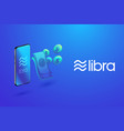 isometric libra digital currency bitcoin and vector image vector image