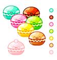 macarons vector image vector image