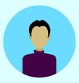 male avatar profile icon round man face vector image