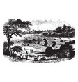 manhattan island before the dutch settlement vector image vector image