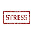 mental disorder stress stamps vector image vector image