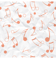Music note paper texture vector image