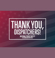 national public safety telecommunicators week vector image vector image
