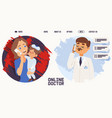 people talking mom consult online doctor vector image vector image