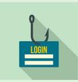 phishing login icon flat style vector image vector image